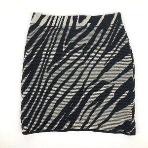 Silence + Noise Zebra Bodycon Skirt XS/SM